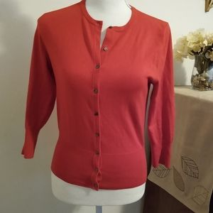 Size S Ann Taylor bright red cardigan